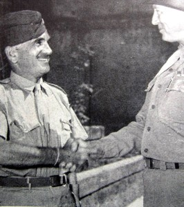 Jolson with General George Patton